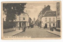 Uccle La Rue Du 22 Novembre Vers L'Eglise Carte Postale Ancienne Animée - Uccle - Ukkel