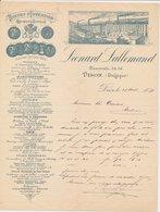 Factuur / Brief Dison 1889 - Leonard Sallemand - België