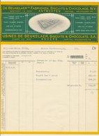 Factuur / Brief Anvers / Antwerpen 1932 - De Beukelaer - Biscuits - Chocolats - Chocolade - Belgium