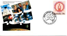 AUSTRALIE. Entier Postal Avec Oblitération 1er Jour De 1987. Ordinateur/Bibliothèque. - Computers