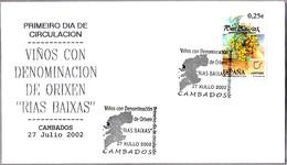 VINOS CON DENOMINACION DE ORIGEN RIAS BAIXAS. SPD/FDC Cambados, Pontevedra, Galicia, 2002 - Vinos Y Alcoholes