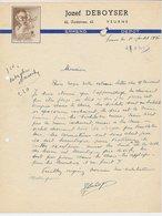 Factuur / Brief Veurne1936 - Jozef DeBoyser - Philips - Light Bulb - Belgique