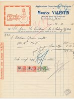 Factuur / Brief Verviers 1931 - Maurice Valentin - Mazda Light Bulb - Belgique