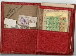 95 -Commune De SAINT GRATIEN  - RATIONNEMENT - Porte-cartes Contenant Des Cartes Et Tickets De Rationnement  1946/1947 - Historische Dokumente