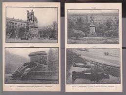 2 CPA. METZ  Esplanade. Empereur Guillaume1. Et Prince Frédéric Charles. ,Renversé - Arras