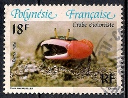 French Polynesia 1986 - Crabs - Polinesia Francesa