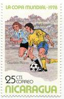 Lote 1978, Nicaragua, 1094, Sello, Stamp, 4 V, World Soccer Cup, FIFA, Argentina 78, Foot Ball, Futbol - Nicaragua