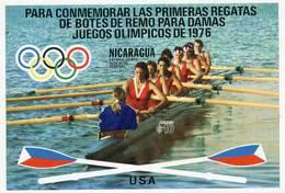 Lote 1973, Nicaragua, 1023, HF, SS, Juegos Olimpicos Montreal, Regata, Olympic Games, Regatta Team USA, Woman - Nicaragua