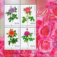 Kyrgyzstan 2018 Flora Flowers Roses SS Of 4v MNH - Kirghizistan
