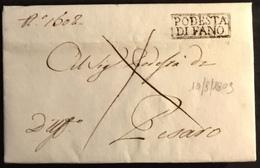 1809. FANO PER PESARO - Italy