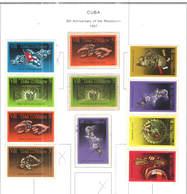 Cuba PO 1967 8 Ann.Revolution Scott.1194/1201+1194+1195+1196+See Scan On Scott.Album; - Nuovi