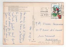 """Timbre , Stamp Yvert N° 1711 """" Hockey """" Sur CP , Carte , Postcard Du 19/09/1973 ( Petite Fente Côté De La Carte ) - 1931-Aujourd'hui: II. République - ....Juan Carlos I"""
