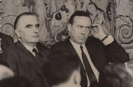 PHOTO ORIGINALE (13x18)   Conference De Presse  Du President DE GAULLE Pompidou Et Michel Debré - Personnes Identifiées