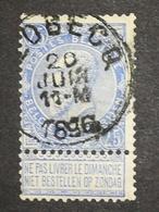 COB N° 60 Oblitération Flobecq 1896 - 1893-1900 Fine Barbe