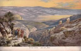 AR02 La Mer Morte - Dead Sea - Art Postcard - Israel