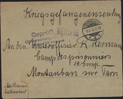 Guerre 14 Prisonniers Allemand Montauban CAD Ludenscheim F 18 6 15 Censure Française Vérifié + Allemande XIV Armeekorps - Guerre De 1914-18