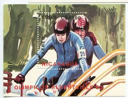Lote 1989-1, Nicaragua, 1989, HF, SS, Juegos Olimpicos, Winter Olympics, Albertville - Nicaragua