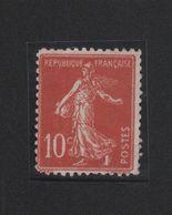 Uniquement Pour Les Connaisseurs Le Fameux Et RARE Faux Des Russes 10 C Semeuse Gomme Charniére - 1906-38 Sower - Cameo