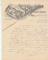 Lettre Illustrée 25/11/1898 J SCHNEIDER Minoterie PUYOO Basses Pyrénées - 1800 – 1899