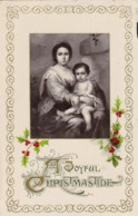 AL94 Greetings - Christmas, Mother And Child, Holly, Berries - Christmas