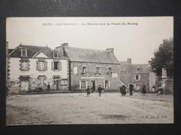 22 - Bringolo - CPA - La Mairie Sur La Place Du Bourg - Café  Lefloch  - Belle Animation - 1923 - E.H N° 6679  - TBE - - Otros Municipios