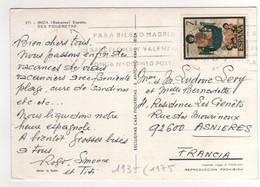 Timbre , Stamp Yvert N° 1935 Sur CP , Carte , Postcard De 1975 Pour La France - 1931-Aujourd'hui: II. République - ....Juan Carlos I