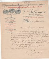 Lettre Illustrée 6/2/1894 SALLENAVE Laboratoire Analyses Commerciales Industrielles & Agricoles PAU Basses Pyrénées - 1800 – 1899