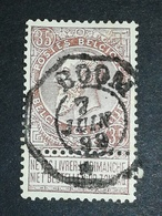 COB N° 61 Oblitération Télégraphe Boom 1899 - 1893-1900 Fine Barbe