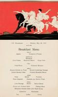 RED STAR LINE (Anvers ,Antwerpen ),S.S.BELGENLAND , BREAKFAST  Menu , Du 30 May 1927,Art Déco, Les Romains - Steamers