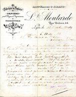 69.LYON.FABRIQUE DE PAPIERS.REGISTRES.MANUFACTURE DE SACS.L.MOUTARDE 44 RUE DUBOIS. - Imprimerie & Papeterie