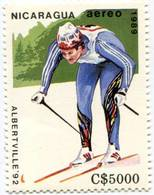 Lote 1989-2, Nicaragua, 1989, Sello, Stamp, 7 V, Juegos Olimpicos, Winter Olympics, Albertville - Nicaragua