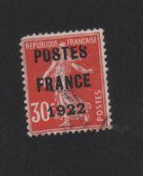 Faux Préoblitéré N° 38 30 C Semeuse Poste France 1922 2eme Choix - Vorausentwertungen