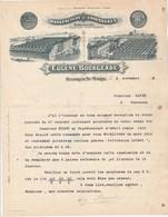 Lettre Illustrée 1/11/1913 E BOURGEADE Chaussures Goodyear OLORON STE MARIE Basses Pyrénées - Papin Marmande - France