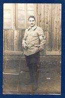 Carte-photo Prisonnier Belge Au Camp De Prisonniers De Lauban (Luban, Pologne, Basse-Silésie).1914-18 - Guerre 1914-18