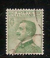 """(Fb).Regno.V.E.III.1927.""""Effigie"""".25c Verde Usato,ben Centrato E Dentellato (54-18) - 1900-44 Vittorio Emanuele III"""