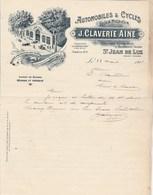 Lettre Illustrée 28/8/1919 CLAVERIE Automobiles Cycles Stock Michelin ST JEAN DE LUZ Basses Pyrénées - Mont De Marsan - France