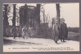 Coucy-le Chateau  Visite Du Château Par Des Médecins Turc  1916 - Oorlog 1914-18