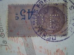 Timbre Fiscal 45c Perforé DF Pour Desmarais Frères à Paris, 1934 - Fiscaux