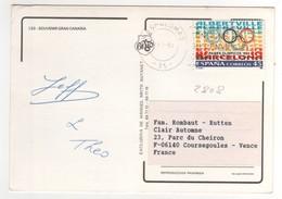 Timbre , Stamp Yvert  N° 2808  Sur CP , Carte , Postcard Du 22/07/1992 Pour La France - 1991-00 Lettres