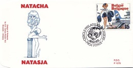 B01-032-4 2528  BD P1076 FDC   Rare Natasja Natacha Walthéry François 16-10-1993 7904 Pipaix €9 - FDC