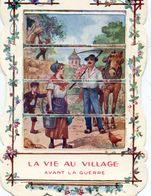 Image à Systheme, Tirette Faisant Apparaitre Une 2ième  Image - Patriotique - Anti Allemande - La Vie Au Village - Vieux Papiers