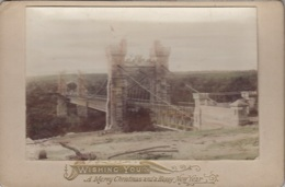 Australie - Pont Suspendu - Photographie XIXème Siècle - Wishing You A Merry Christmas And A Happy New Year - Australia