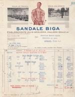 Facture Illustrée 22/6/1938 Béguerie Sandale BIGA MAULEON SOULE Basses Pyrénées à Michy Issoire Puy De Dôme - France