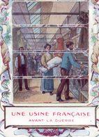 Image à Systheme, Tirette Faisant Apparaitre Une 2ième  Image - Patriotique - Anti Allemande -Une Usine Francaise Avant - Vieux Papiers