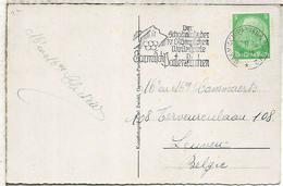ALEMANIA REICH 1936 TP CON MAT JUEGOS OLIMPICOS INVIERNO GARMISCH PARTENKIRCHEN SKI - Winter 1936: Garmisch-Partenkirchen
