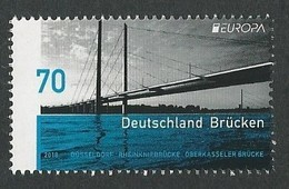 "ALEMANIA/ GERMANY/ DEUTSCHLAND - EUROPA 2018 -TEMA ANUAL - ""PUENTES.- BRIDGES - BRÜCKEN - PONTS"" - SERIE 1 V. - 2018"
