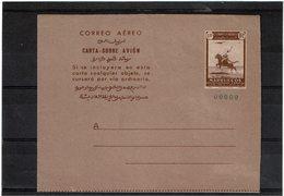 "CTN55 - MAROC AEROGRAMME ""JINETE Y AVION"" NEUF SPECIMEN TTB - Maroc (1956-...)"