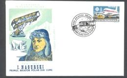 74985- I. NAGURSKI, FIRST POLAR PILOT, POLAR FLIGHTS, SPECIAL COVER, 1984, ROMANIA - Polar Flights