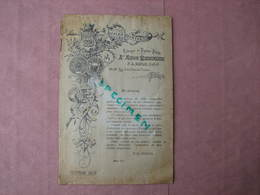 Papiers Peint 1898 Rare Catalogue 8 Pages 17X25 10 échantillons Papiers Et 3 De Toiles Peintes Superbe - Francia