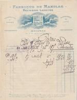 Facture Illustrée 24/10/1923 LAPEYRE Fabrique De Makilas Parapluies Cannes BAYONNE Basses Pyrénées - France